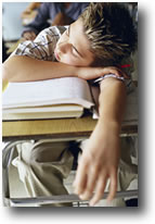 Kids who reach for caffeine-containing beverages in the evening can have trouble falling and staying asleep at night, which can make it harder for them to wake up in the morning and stay awake in class