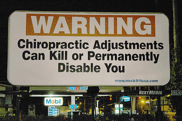 Warning: chiropractic Adjustments Can Kill or Permanently Disable You